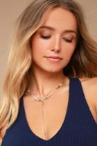 Lulus | Hidden Treasures Gold Beaded Choker Necklace