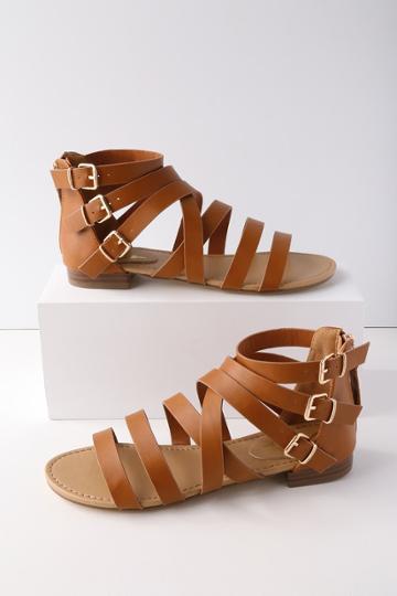 Neria Tan Gladiator Sandal Heels | Lulus