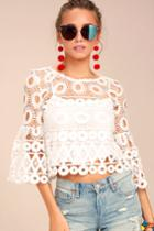Nearness Of You White Crochet Crop Top | Lulus