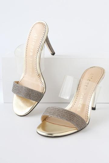 Allegra James Disco Gold High Heel Sandal Heels   Lulus