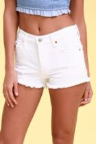 Levi's 501 White Distressed Denim Cutoff Shorts | Lulus