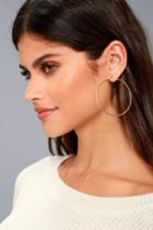 Lulus | Manifestation Gold Hoop Earrings