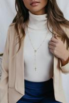 Stellan Gold Drop Necklace | Lulus