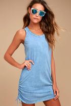 Olive & Oak Harmony Denim Blue Bodycon Dress