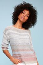 Beacon Light Blue Striped Knit Sweater | Lulus