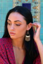 Ravenna Gold Beaded Earrings | Lulus