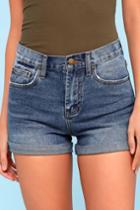 Billabong High Tide Medium Wash High Waisted Denim Shorts | Lulus