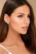 Lulus Akasha Gold Rhinestone Earrings