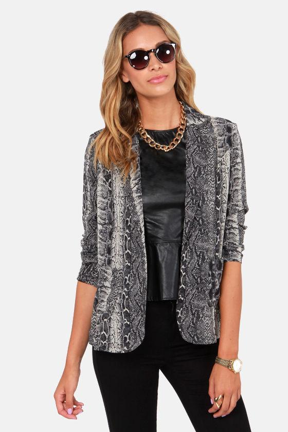 Costa Blanca Serpentine Dream Snake Print Blazer