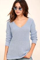 Bb Dakota Barlow Light Blue Sweater | Lulus