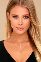 Lulus Good Natured Gold Layered Necklace