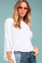 Free People Love Lane White Long Sleeve Top | Lulus