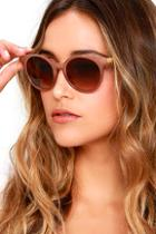 Lulus Totally Chill Brown Sunglasses