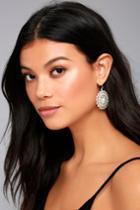 Lulus   Mandala Bay Silver Earrings