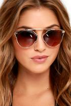 Lulus Modern Metropolitan Tortoise And Gold Sunglasses