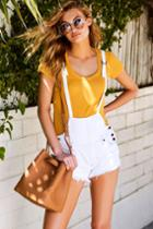 Free People   Strappy White Distressed Denim Overalls   Size 27   100% Cotton   Lulus