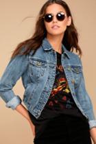 Evidnt Macklin Medium Wash Denim Jacket | Lulus