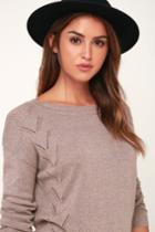 Pointelle Me More Light Brown Knit Sweater | Lulus