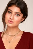 Lulus Last Forever Gold Layered Choker Necklace
