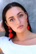 Arnette Red Woven Earrings | Lulus