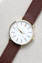 Lulus One Moment Gold And Dark Brown Watch