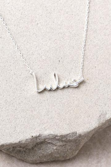 Lulus | Love Lulus Sterling Silver Necklace