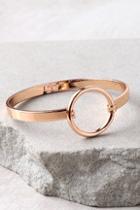 Lulus Never Ending Rose Gold Bracelet