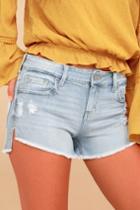 Eunina Cleo Light Wash Distressed Denim Shorts | Lulus