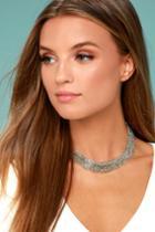 Lulus | Love Bug Silver Layered Choker Necklace