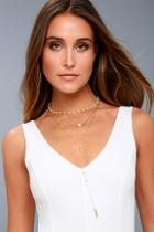 Lulus Effortlessly Elegant Gold And Pearl Layered Necklace