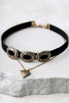 Lulus Style Showdown Gold And Black Layered Choker Necklace
