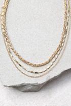 Lulus Sweet Bliss Gold Layered Choker Necklace