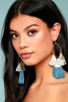 Ettika | Destiny Around You Gold And Turquoise Earrings | Lulus
