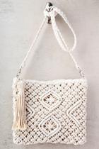 Lulus Kaia Cream Crocheted Crossbody Purse