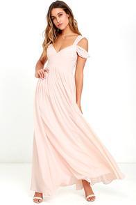 Marine Blu Make Me Move Blush Pink Maxi Dress