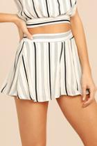 Lulus Irreplaceable White Striped Shorts