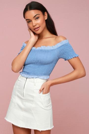 Evidnt Vierra White Denim Mini Skirt | Lulus