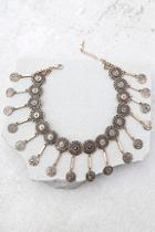 Lulus Masquerade Magic Gold Choker Necklace