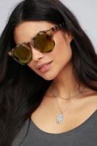 Bosworth Tortoise And Gold Mirrored Sunglasses | Lulus