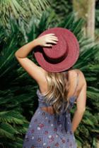 Tropicali Burgundy Straw Boater Hat | Lulus