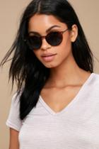 Career Tortoise Round Sunglasses | Lulus