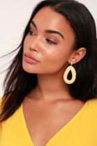 Rocco Beige Woven Earrings | Lulus