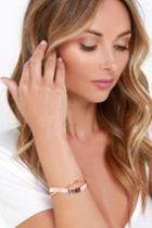 Around The Bend Rose Gold Bracelet | Lulus