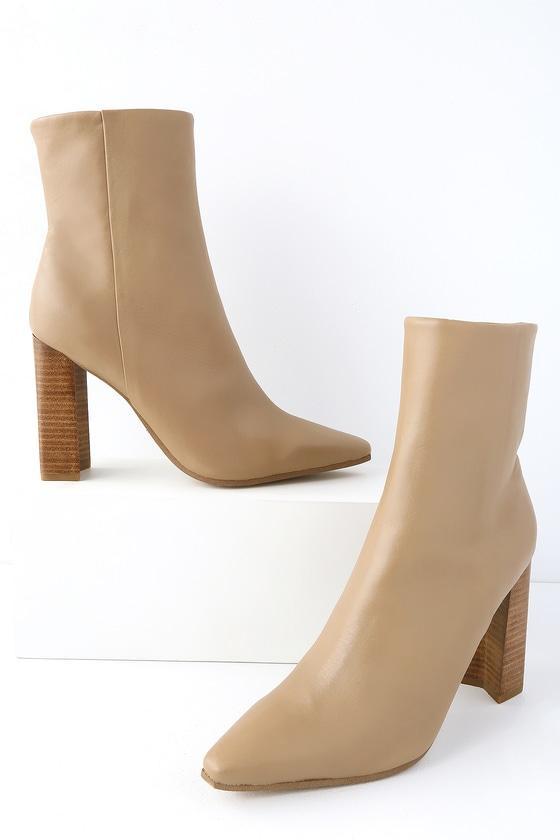 a9d834095046 Tony Bianco Castro Camel Denver Leather High Heel Mid-calf Booties ...