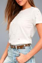 Lulus | Star Studded Silver And Brown Belt