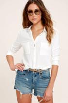 Blank Nyc Pin-up High Rise Medium Wash Distressed Shorts | Lulus