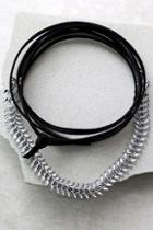 Lulus Sweet Situation Black And Silver Wrap Necklace