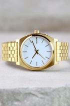 Nixon Time Teller Gold And White Watch