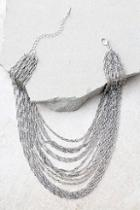 Lulus Party Hopping Silver Layered Choker Necklace