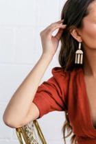 Venezia Gold Earrings   Lulus